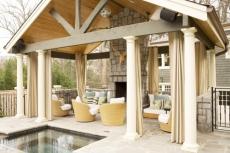 covered patio - outdoor spaces - outdoor room - outdoor lounge - patio design - outdoor living room via pinterest