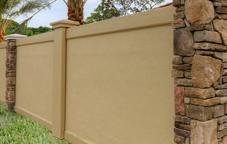 Concrete Fence Walls : Precast concrete construction perimeter screen wall
